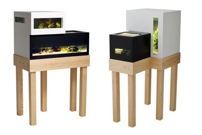 Archiquarium un acuario minimalista revista muebles - Peceras de diseno ...
