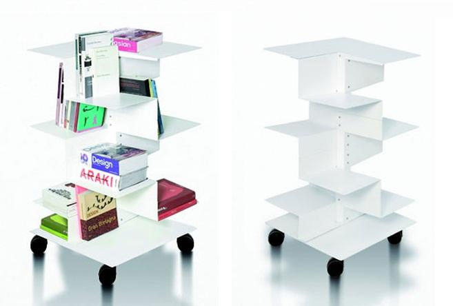 Revista muebles mobiliario de dise o - Estanteria con ruedas ...