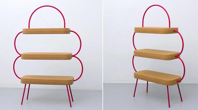 Estanter a de corcho revista muebles mobiliario de dise o - Muebles de corcho ...