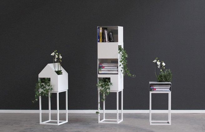 Estanter a para libros y plantas revista muebles for Estantes para plantas exteriores