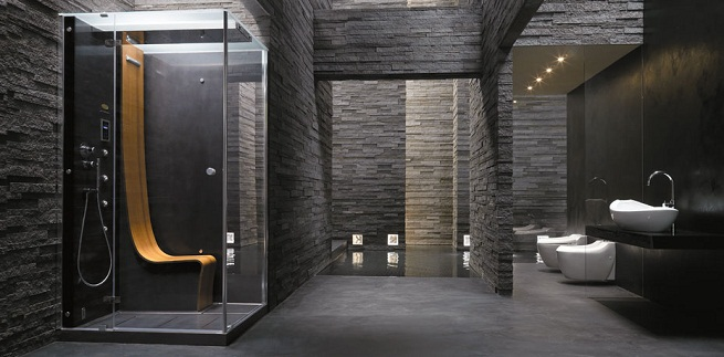 Baño Turco Dimensiones:Modern Walk-In Shower
