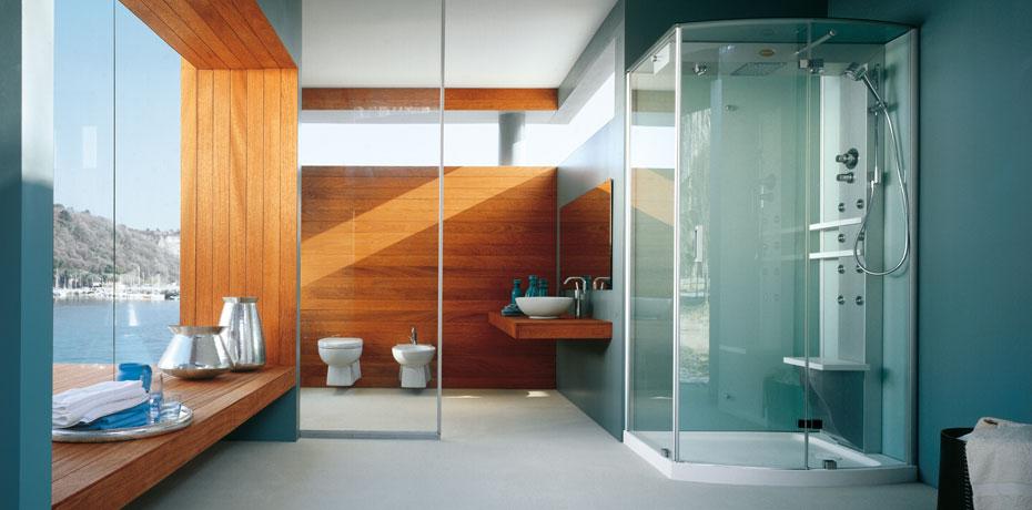 Ba os modernos con jacuzzi y regadera imagui for Duchas minimalistas