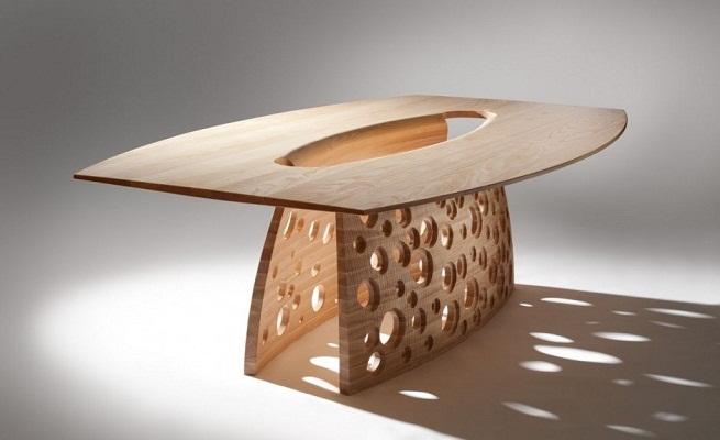 Revista muebles mobiliario de dise o - Mesas de madera de diseno ...