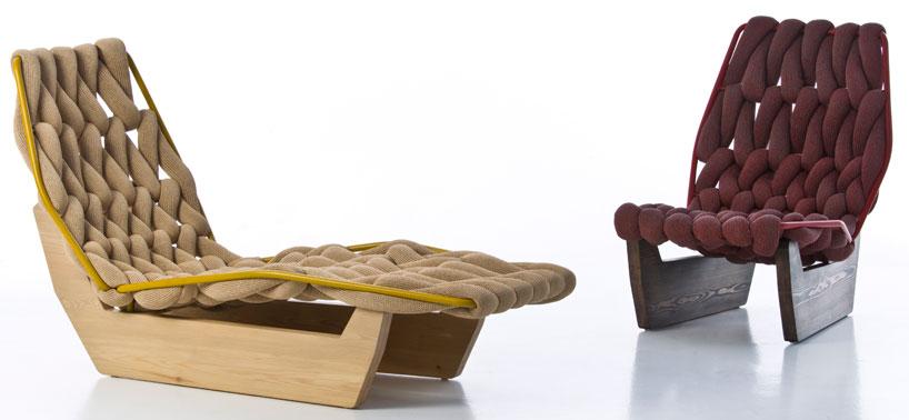 silla y chaise longue por patricia urquiola revista muebles mobiliario de dise o. Black Bedroom Furniture Sets. Home Design Ideas