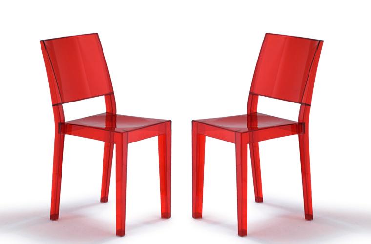Revista muebles mobiliario de dise o - Sillas de policarbonato ...