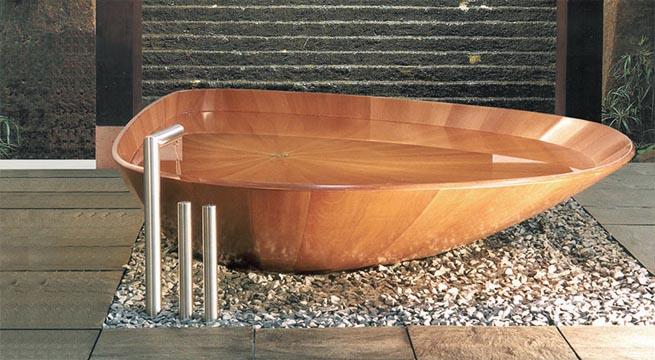 ba era de madera ocean shell revista muebles