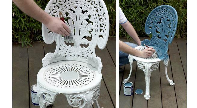 Pintar muebles de hierro revista muebles mobiliario de - Pinturas para metal ...