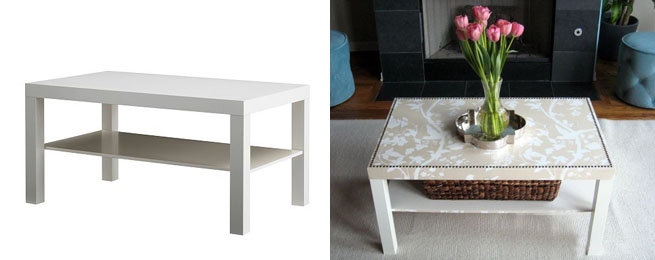 Mesa de ikea tuneada revista muebles mobiliario de - Ikea mesa lack blanca ...