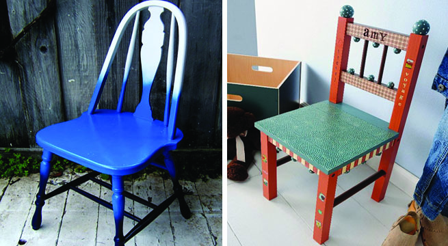 Revista muebles mobiliario de dise o - Sillas para pintar ...