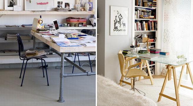 Ideas para mesas de estudio revista muebles mobiliario - Mesa de estudio de cristal ...
