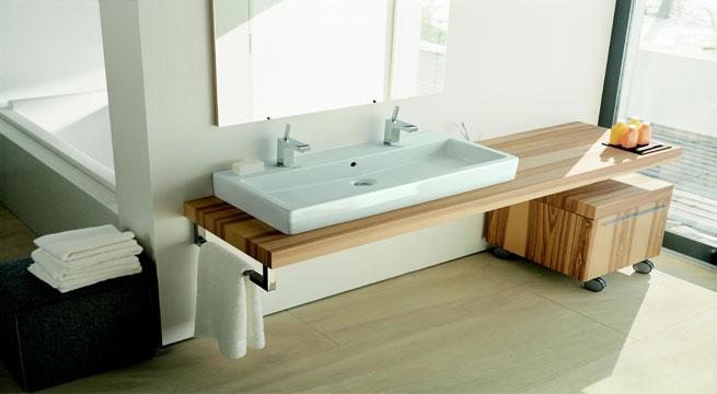 Revista muebles mobiliario de dise o - Encimeras de madera para banos ...