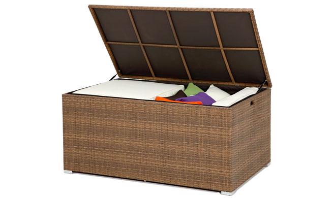 Arcones de almacenaje para exterior revista muebles for Asiento con almacenaje