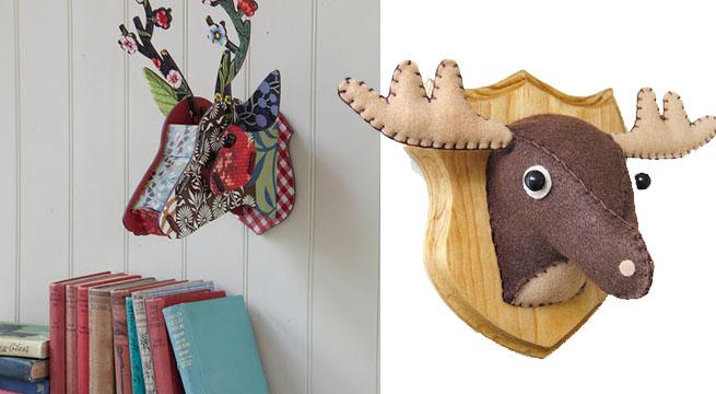 Complementos inspirados en la caza revista muebles - Cabezas de animales decoracion ...