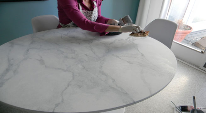 Revista muebles mobiliario de dise o - Reciclar marmol ...
