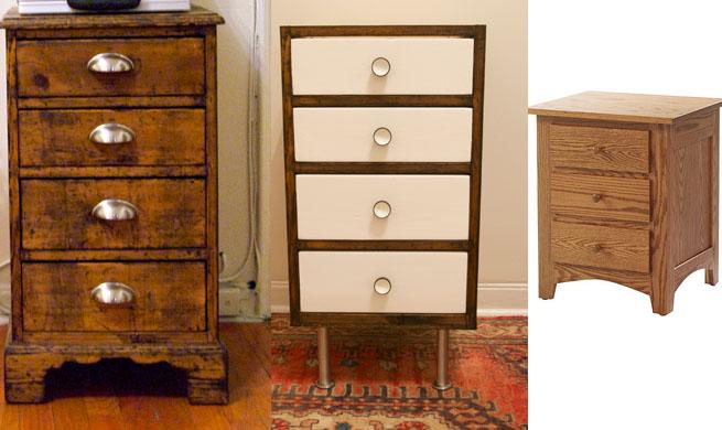 Un escritorio a partir de una cajonera revista muebles - Tiradores para muebles antiguos ...