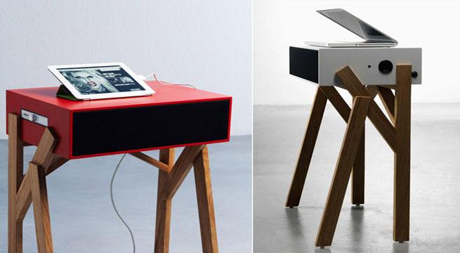 Mesa de ordenador con altavoces incorporados revista for Diseno mesa ordenador