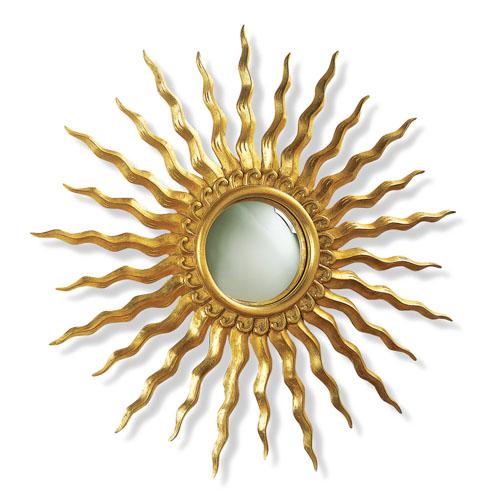 decoracion mueble sofa espejos en forma de sol