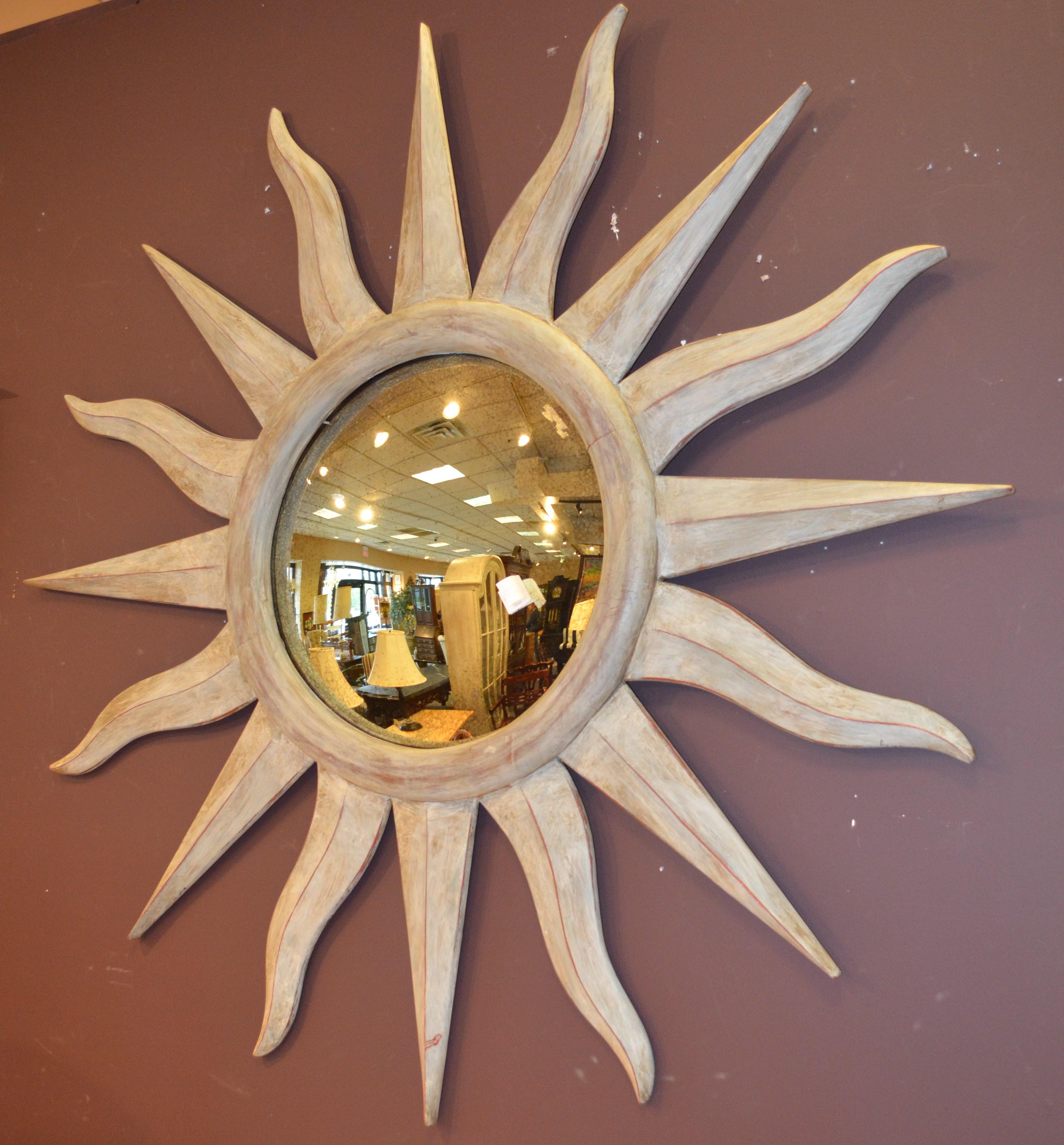 Espejo vintage con forma de sol - Formas de espejos ...