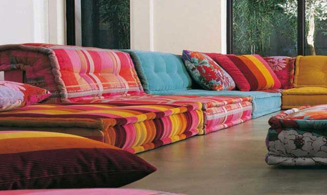 Sof s modulares mah jong de roche bobois revista muebles for Mobiliario marroqui