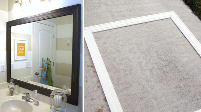 Un elegante espejo para el ba o revista muebles for Molduras para espejos online