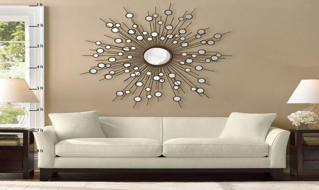 Espejo vintage con forma de sol for Espejos decorativos con forma de sol