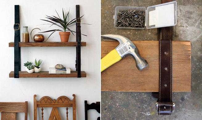 Una librer a de madera y cinturones revista muebles for Bricolaje muebles