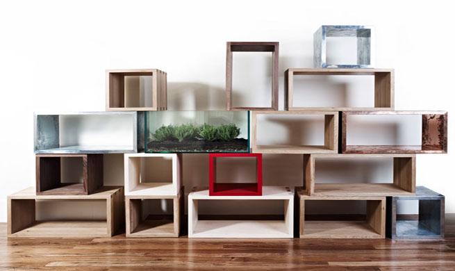 Estanteru00edas modulares hechas con cajas u2013 Revista Muebles ...