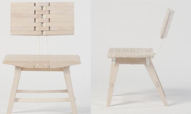 Ossa una silla que se dobla revista muebles for Muebles multifuncionales ikea