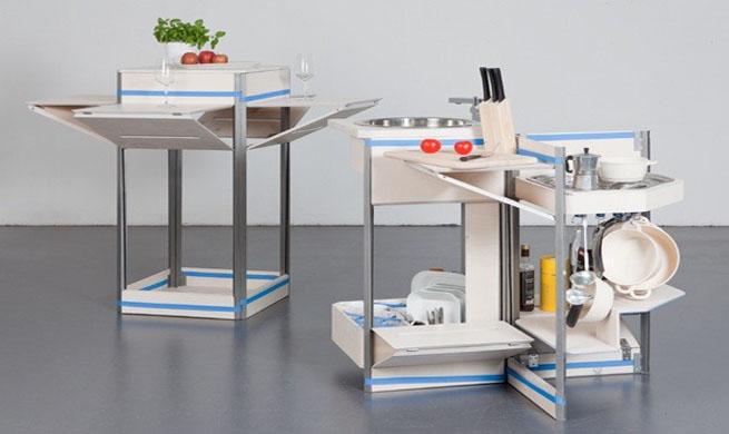como esta cocina compacta que supone sin duda una revolucin del espacio cuando est cerrada no tiene mayores dimensiones que las que pudiese tener un