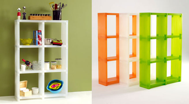 Cubitec una estanter a transparente y de colores - Estanterias de colores ...