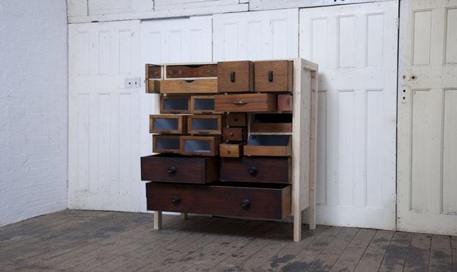 Muebles hechos con cajones reciclados - Muebles hechos con materiales reciclados ...