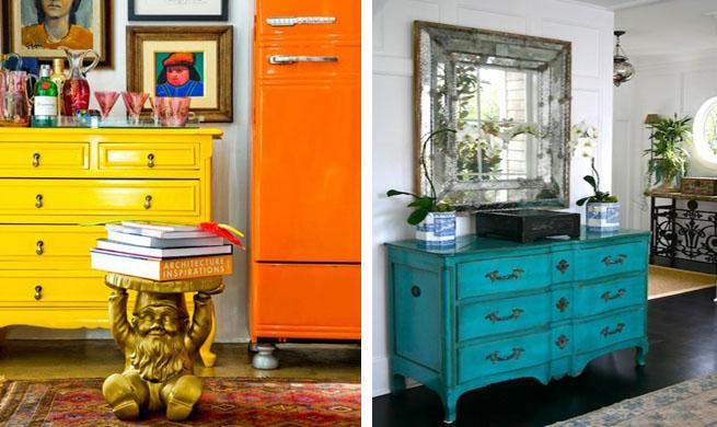 Muebles cl sicos con mucho color - Muebles recibidores clasicos ...