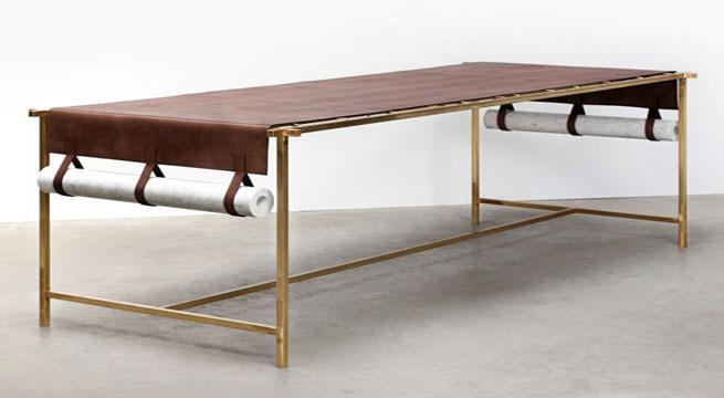 Colecci n craftica con cuero de fendi revista muebles for Fenda muebles