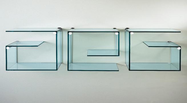 Librer as y estanter as de cristal revista muebles - Estanterias de cristal para banos ...