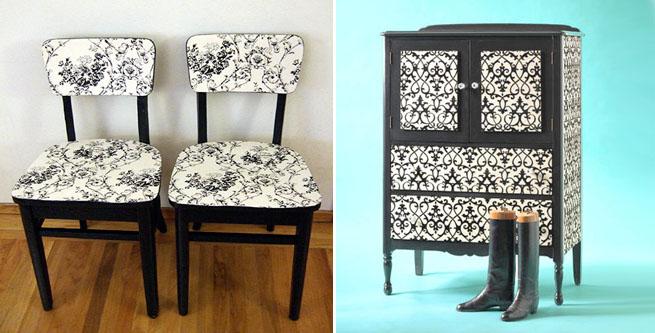 C mo entelar muebles revista muebles mobiliario de dise o - Como forrar un mueble con papel ...