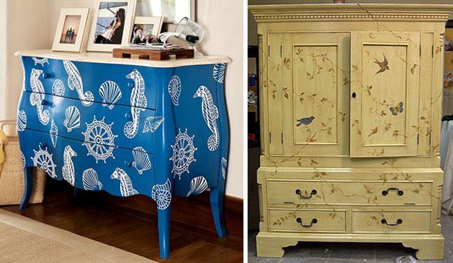 Pintar muebles en distintos estilos revista muebles for Pintar un mueble de blanco