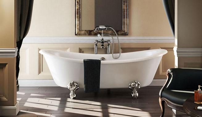 Tinas Para Baño Estilo Antiguo:Bañera de patas, la joya de un baño clásico – Revista Muebles