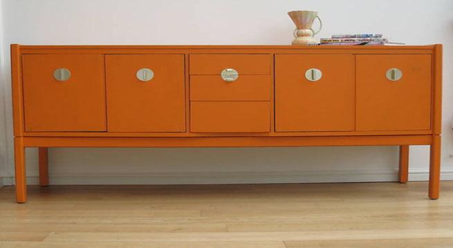 Pintar muebles de color naranja - Pintar muebles de colores ...