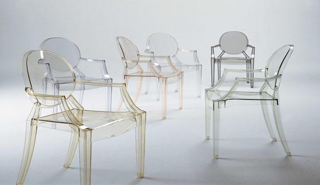 Revista muebles mobiliario de dise o for Sillas transparentes