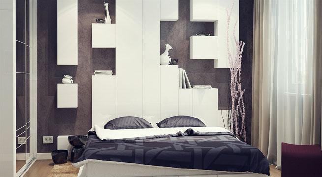Cabeceros de cama con espacio de almacenaje - Diseno de cabeceros de cama ...