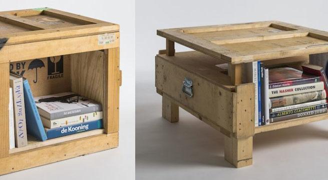 muebles hechos con cajas de embalaje - Imagenes De Armarios Hecho Con Cajas Recicladas