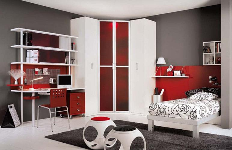 Snafab.com  Habitacion Juvenil Blanca