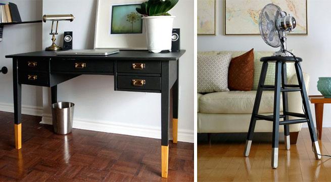 Reciclar muebles t cnica del dip painting revista for Muebles pintados a mano fotos