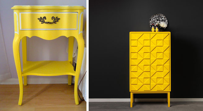 decorar con muebles amarillos revista muebles