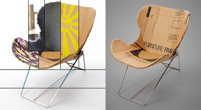 Silla re ply reciclada y con vestidos revista muebles for Sillas y sillones de diseno