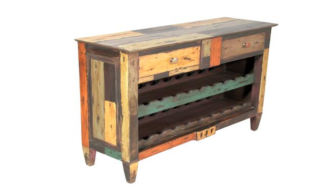 Aparadores vinoteca en madera reciclada - Vinotecas de madera ...