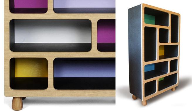 Revista muebles mobiliario de dise o - Estanterias de colores ...