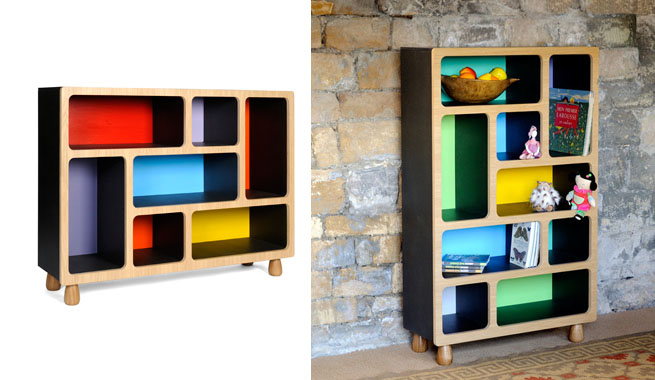 Estanter as de colores con dise o moderno revista - Estanterias diseno pared ...
