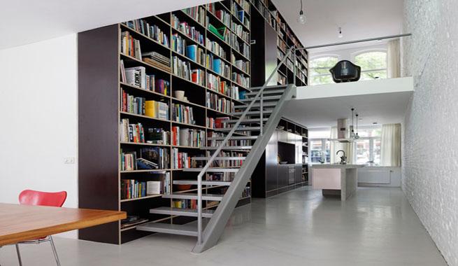 Estanter as escalera que ahorran espacio - Estanterias de diseno para libros ...