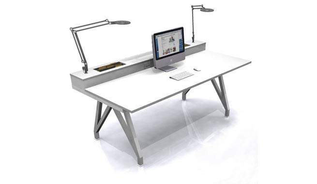Toda la oficina en un escritorio revista muebles for Escritorios para disenadores